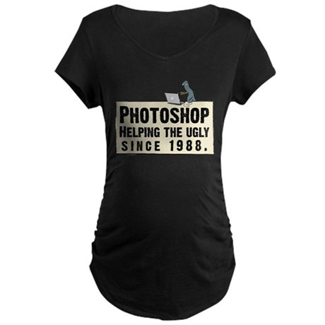 Photoshop - Helping the Ugly Maternity Dark T-Shir