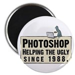 "Photoshop - Helping the Ugly 2.25"" Magnet (10 pac"