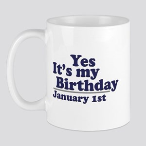 January 1st Birthday Mug