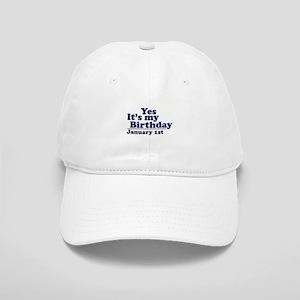 January 1st Birthday Cap