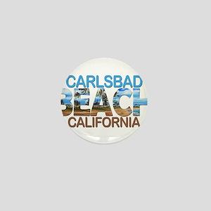 Summer carlsbad state- california Mini Button