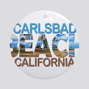 Summer carlsbad state- california Round Ornament