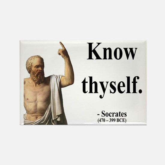 Socrates 8 Rectangle Magnet