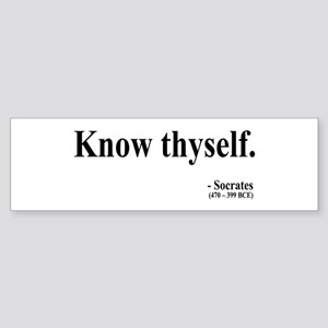 Socrates 8 Bumper Sticker