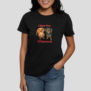 Two Wieners Women's Dark T-Shirt