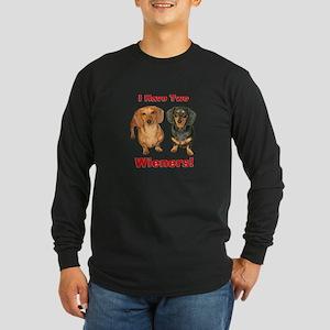 Two Wieners Long Sleeve Dark T-Shirt