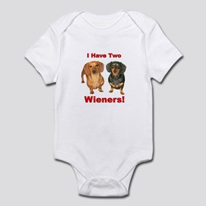 Two Wieners Infant Bodysuit
