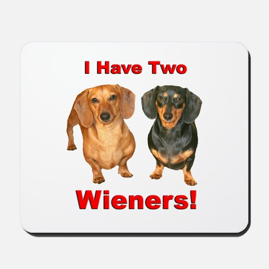 Two Wieners Mousepad