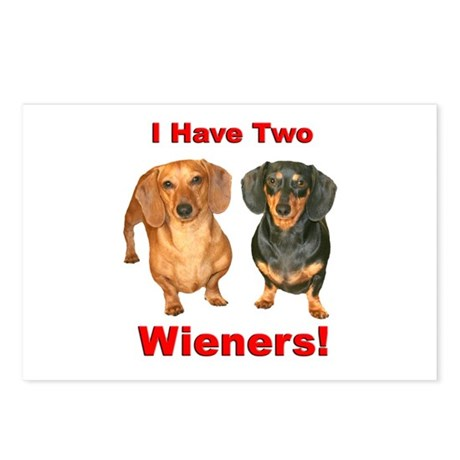 Two Wieners Postcards (Package of 8)