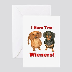 Two Wieners Greeting Card