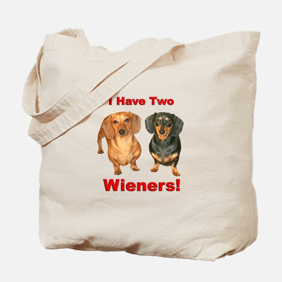 Two Wieners Tote Bag