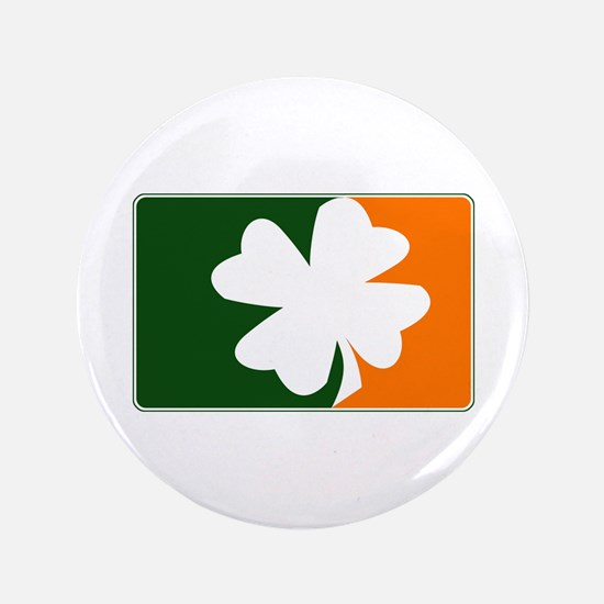 "Major League Irish (orange) 3.5"" Button"
