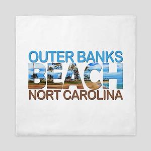 Summer outer banks- North Carolina Queen Duvet