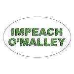 Impeach O'Malley Oval Sticker