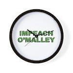Impeach O'Malley Wall Clock