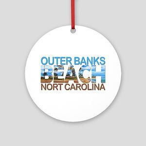 Summer outer banks- North Carolina Round Ornament