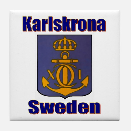 Karslskrona Sweden Gifts, Clo Tile Coaster