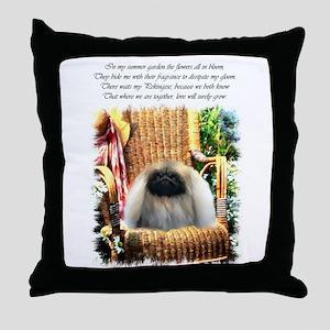 Pekingese Art Throw Pillow