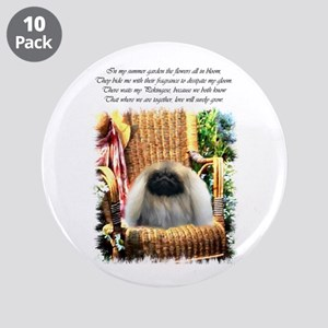 "Pekingese Art 3.5"" Button (10 pack)"