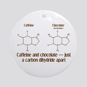 Caffeine & Chocolate Ornament (Round)