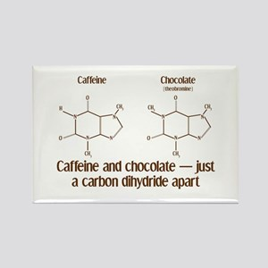 Caffeine & Chocolate Rectangle Magnet