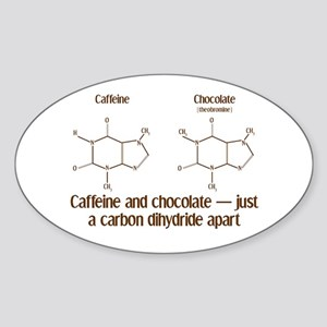 Caffeine & Chocolate Oval Sticker