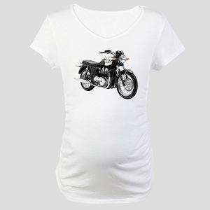 Triumph Bonneville Green/White #1 Maternity T-Shir