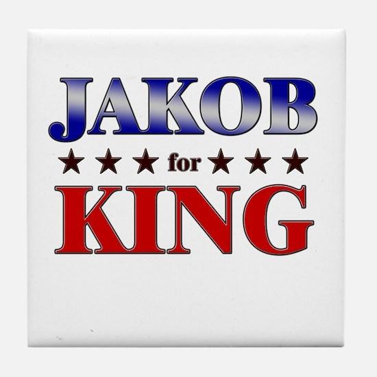 JAKOB for king Tile Coaster