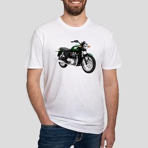 Triumph Bonneville Green #1 Fitted T-Shirt