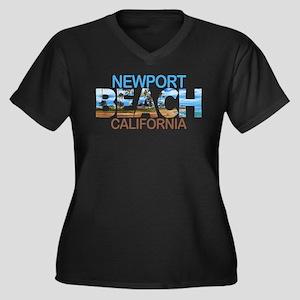 Summer newport- california Plus Size T-Shirt
