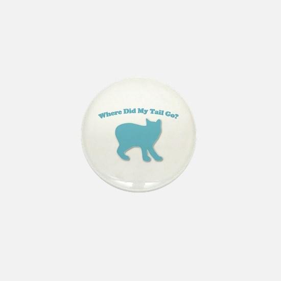 Manx, Tailless Cat Mini Button