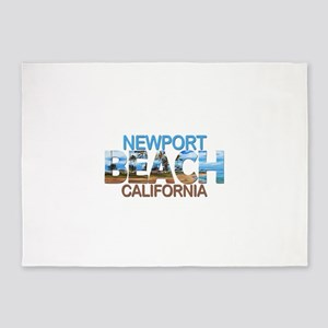 Summer newport- california 5'x7'Area Rug