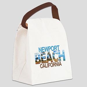 Summer newport- california Canvas Lunch Bag