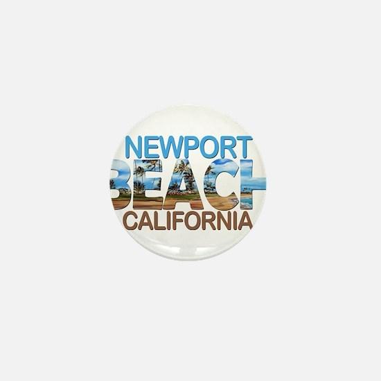 Summer newport- california Mini Button