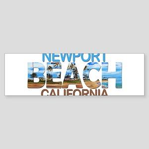 Summer newport- california Bumper Sticker