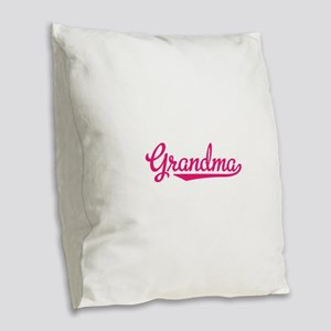 Grandma Burlap Throw Pillow