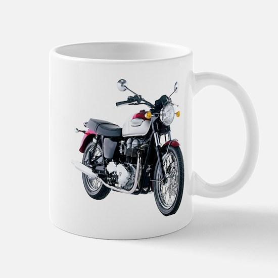 Triumph Bonneville White/Red Mugs