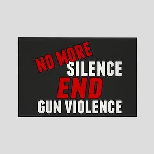 Stop Gun Violence Rectangle Magnet