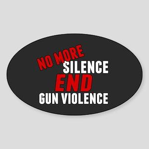Stop Gun Violence Sticker (Oval)