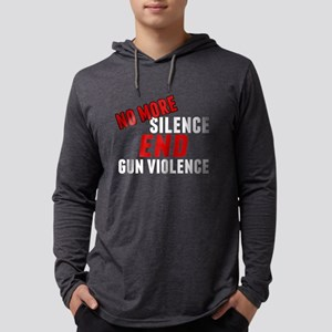 Stop Gun Violence Mens Hooded Shirt