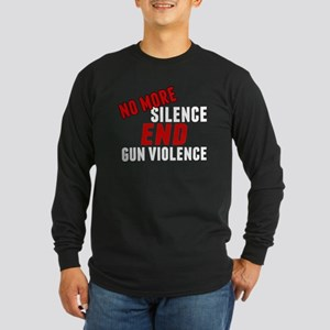 Stop Gun Violence Long Sleeve Dark T-Shirt
