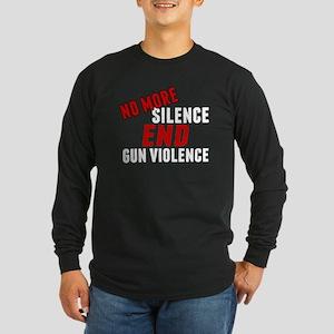 Stop Gun Violence Long Sleeve Dark T-Shirt