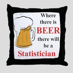 Statistician Throw Pillow