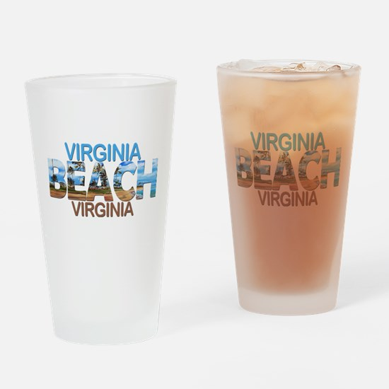 Summer virginia beach- virginia Drinking Glass