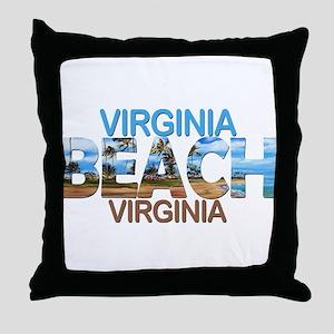 Summer virginia beach- virginia Throw Pillow