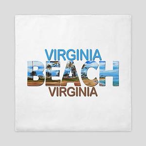 Summer virginia beach- virginia Queen Duvet