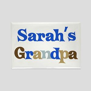 Sarah's Grandpa Rectangle Magnet