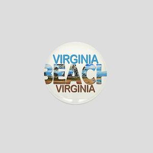 Summer virginia beach- virginia Mini Button