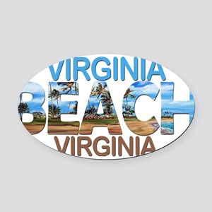 Summer virginia beach- virginia Oval Car Magnet