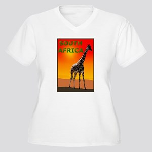3-Giraffe Rectangle Logo Plus Size T-Shirt